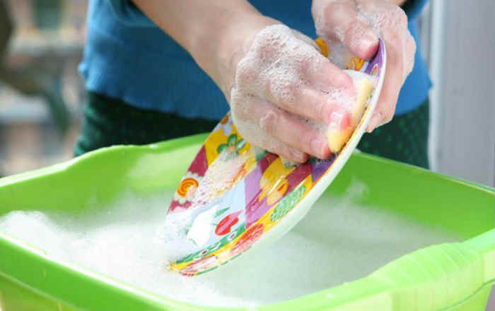 Паста для мытья посуды своими руками