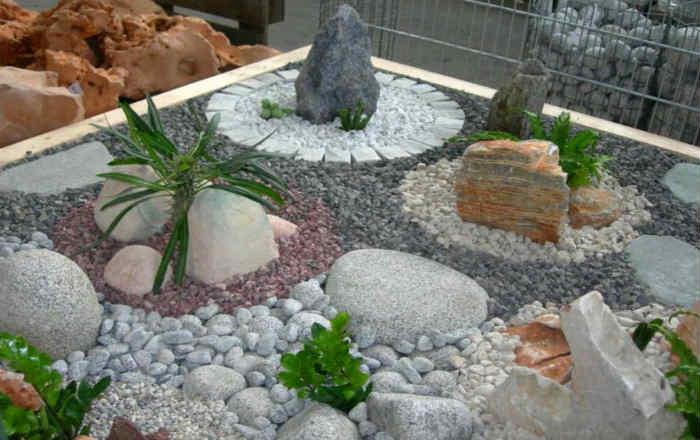 Каменные композиции на даче