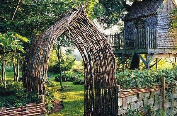 Идеи с плетнями - заборы, мостики, арки