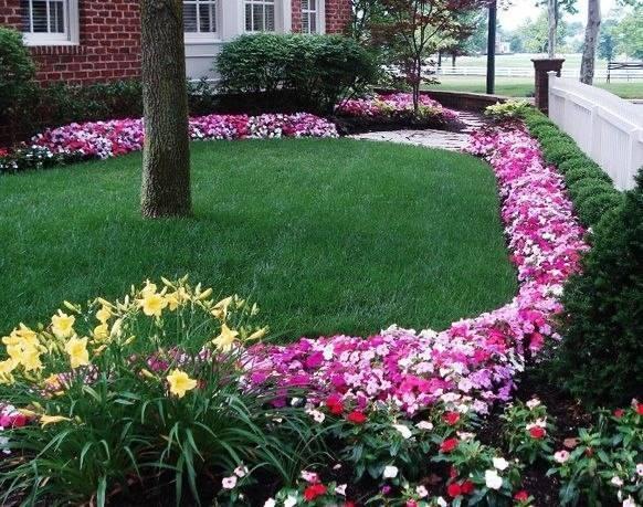 Красивые цветочные бордюры