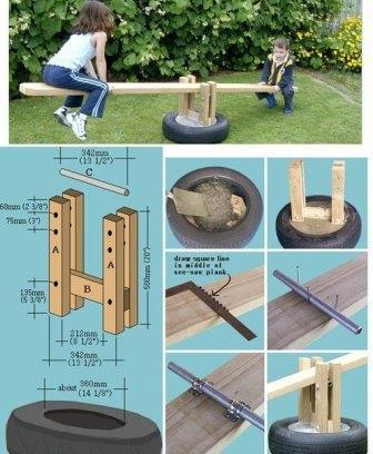 Оформление детской площадки на даче
